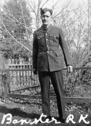 Ronald Banister in his Air Force uniform, World War 2