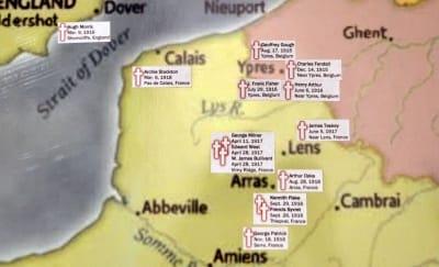 Map of Fallen Soldiers