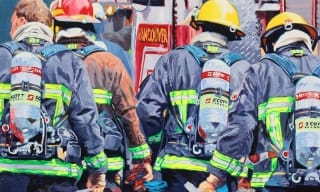 Painting of Fire Fighters