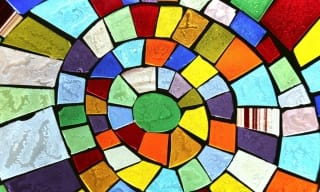 Colourful glass mosaic art