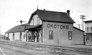 Okotoks Train Station, 1909, Museum Archives