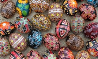 Pysanka egg decorating art