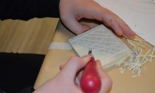 Printmaking linocut