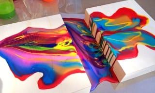 Acrylic Pouring Canvas Art