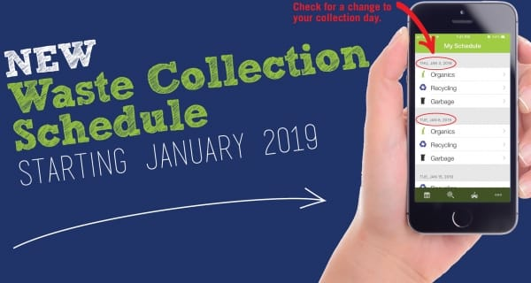 Waste Collection Schedules are changing starting January 8th