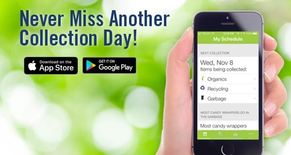 never miss another collection day with the Okotoks mobile waste app