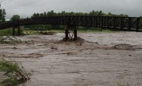 2013 Flood - Laurie Boyd Bridge over the Sheep River