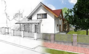Sketched house - affordable housing