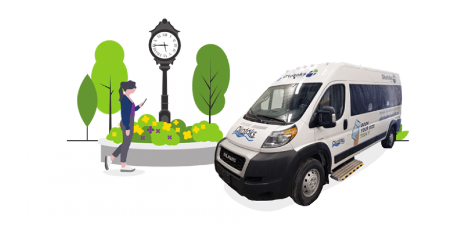 Okotoks transit van illustration