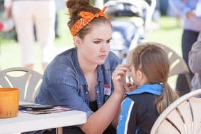 Youth Volunteer Facepainter