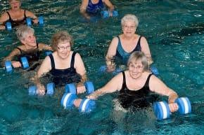 Okotoks Recreation Centre Pool Aqua Fitness Aquafitness Aqua-fitness Water Aerobics Exercise Seniors