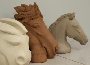 Christine Pedersen Clay Equine Sculpture