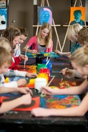 Children's Art Birthday party education program okotoks art gallery