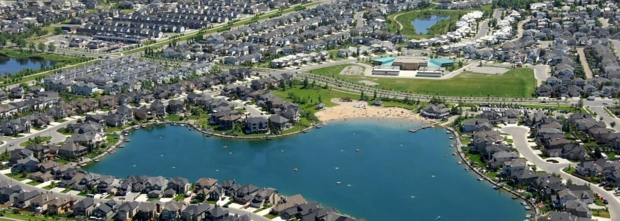 Aerial Map Okotoks Crystal Shores