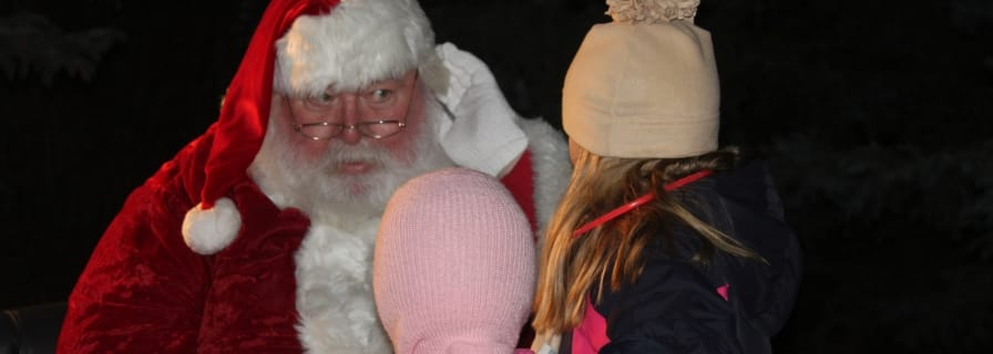 Santa at Light Up Okotoks