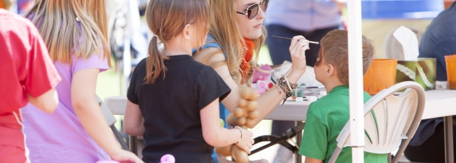 Okotoks Parade Day and Children's Festival Volunteer Facepainter