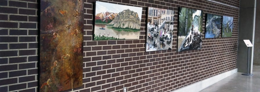 Art in the Hall display, Municipal Centre, Okotoks Art Gallery Exhibit
