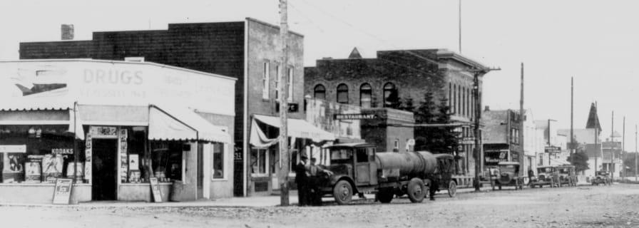 Museum History, Okotoks Street 1928