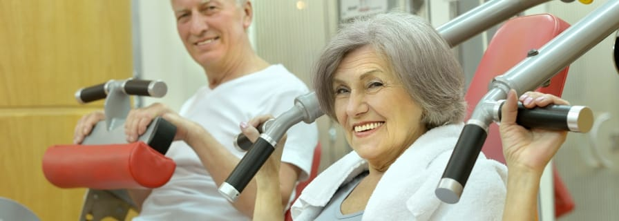 seniors exercising weights program registered okotoks recreation centre rec