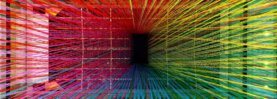 Megan Geckler art string installation Active8