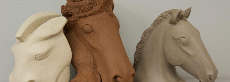 Punk, Jazz, and Classic Clay Sculpture Christine Pedersen