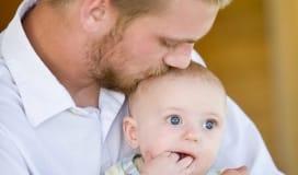 Healthy Dad and Baby