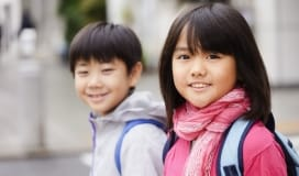 happy school children kids social programs support Okotoks Family Resource Centre