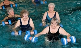Okotoks Recreation Centre Pool Aqua Fitness Aquafitness Aqua-fitness Water Aerobics Exercise Seniors