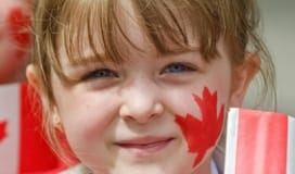 Canada Day Festival - Child with Face painted
