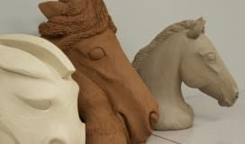 Christine Pedersen Clay Equine Sculpture
