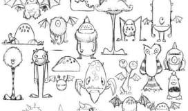 Monsters Drawings Art