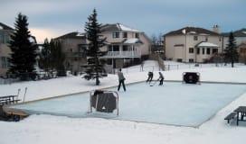 Outdoor Ice Rink Arena Sanstone Park