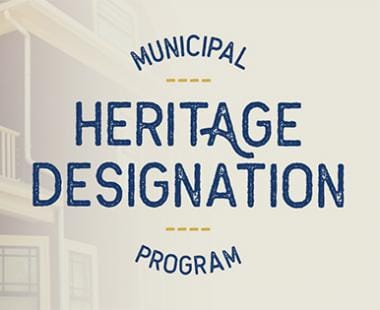 Municipal Heritage Designation program